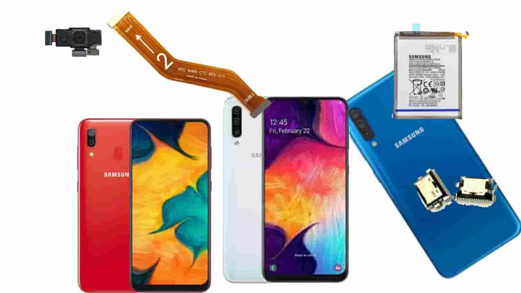 Similarity of internal components of Samsung A30 and A50 mobile phones